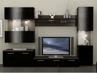 Модульная гостиная Фигаро в черном цвете  - Мебельная фабрика «Фран»