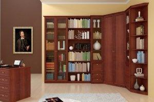 Библиотека угловая - Мебельная фабрика «Ясень»
