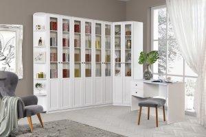 Библиотека Луиза дуб седан - Мебельная фабрика «Заречье»