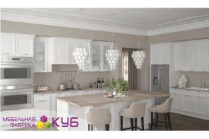 Большая белая кухня - Мебельная фабрика «КУБ»