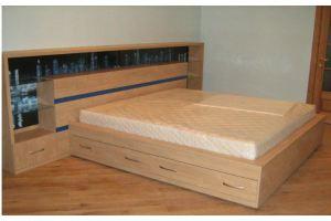 Большая двуспальная кровать с ящиками - Мебельная фабрика «Santana»
