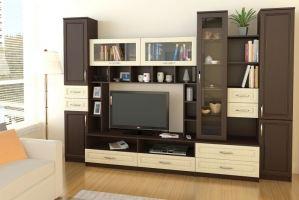 Большая функциональная гостиная МС 27 - Мебельная фабрика «Алекс-Мебель»