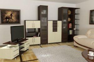Большая гостиная МС 23 - Мебельная фабрика «Алекс-Мебель»