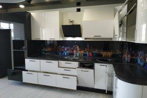 Большая кухня из пластика АВЕТ - Мебельная фабрика «ВладМебСтрой»