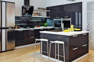 Большая кухня с островом - Мебельная фабрика «ДОН-Мебель»