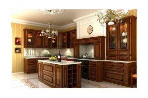Большая кухня с островом АГНА - Мебельная фабрика «КухниДар»