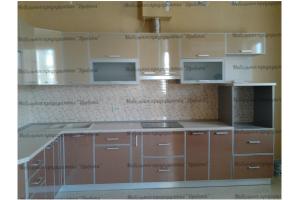 Большая угловая кухня бежевая - Мебельная фабрика «Древека»