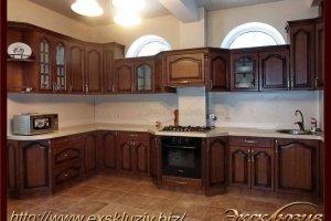 Большая угловая кухня мореная береза - Мебельная фабрика «Эксклюзив»