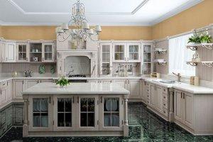 Большая угловая кухня с островом Темза - Мебельная фабрика «Avetti»