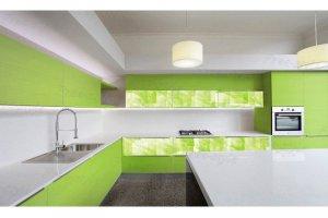 Большая угловая кухня зеленого цвета - Мебельная фабрика «Самеко»