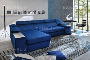 Большой диван Монреаль с оттоманкой - Мебельная фабрика «Камелия»