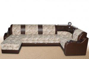 Большой п-образный диван Доминика 5 - Мебельная фабрика «Фаворит»