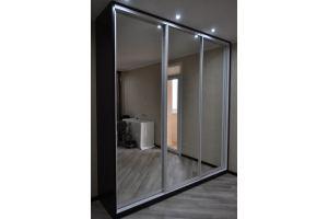 Большой шкаф-купе с зеркальными дверцами - Мебельная фабрика «Мебель +5»