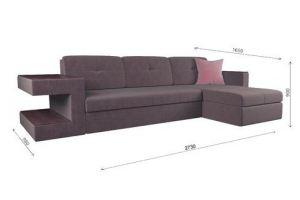 Большой угловой диван Мадрид lux cvadro+мп2 - Мебельная фабрика «ГОСТМебель»