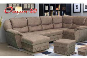 Большой угловой диван с пуфом Олимп 20 - Мебельная фабрика «Олимп»