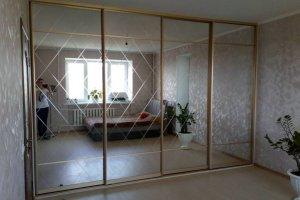 Большой зеркальный шкаф-купе - Мебельная фабрика «IDEA»