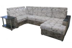 Угловой диван с оттоманкой Бриз - Мебельная фабрика «Мирабель»