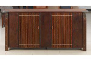 Буфет 2дверный с латунью коже Aged Bark  - Импортёр мебели «Arredo Carisma (Австралия)»