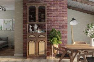 Буфет Комби 2-х створчатый МДФ - Мебельная фабрика «Террикон»