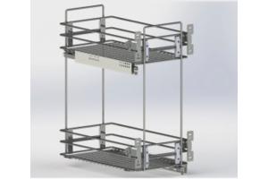 Бутылочница Квадро 300мм - Оптовый поставщик комплектующих «Мебельщик»