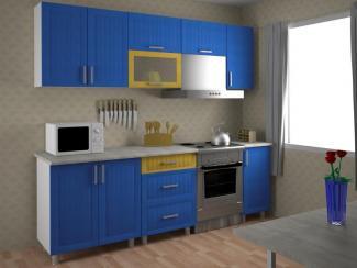 Кухонный гарнитур прямой Золушка Blue oliva