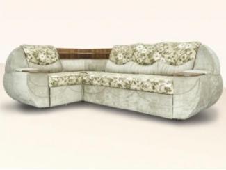 Тканевый угловой диван Москва М с цветами  - Мебельная фабрика «Димир»