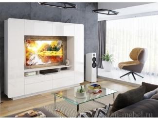 Стенка Нео (Сити) белый глянец - Мебельная фабрика «Фран»