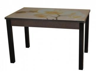 Стол Квадро плюс со стеклом с деревянными ногами