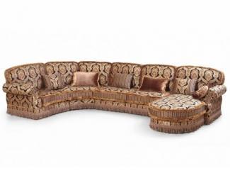 Большой угловой диван с оттоманкой Венеция - Мебельная фабрика «ALVI SALOTTI»