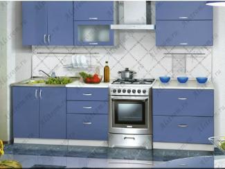 Кухня прямая МДФ мыло глянцевый