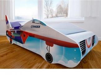 Кровать детская с матовой фотопечатью Истребитель