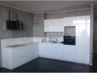 Глянцевая кухня в белом цвете - Мебельная фабрика «Династия»