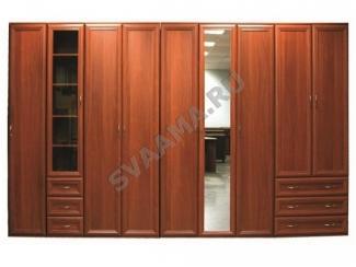 Коричневый распашной шкаф №2 - Мебельная фабрика «Сваама»