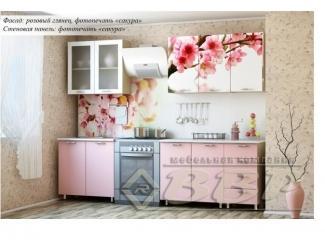 Кухня с фотопечатью Сакура - Мебельная фабрика «ВВР»
