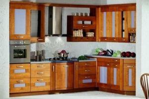 Кухня  Хайтек  из массива дуба - Мебельная фабрика «Лидер Массив», г. Тамбов