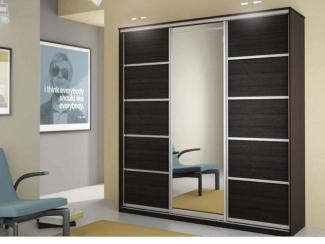 Шкаф с зеркалом Купе-3 - Мебельная фабрика «Алмаз-мебель», г. Кузнецк