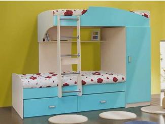 детская кровать 2х ярусная 1 - Мебельная фабрика «Элфис»