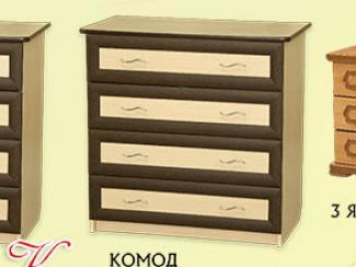 Комод рамка «К-12» 4 ящика - Мебельная фабрика «Мебель Прогресс»