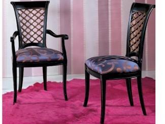 Стул P19B+P16C черный+орех/ ткань UPH F221/07 - Импортёр мебели «М-Сити (Малайзия)»