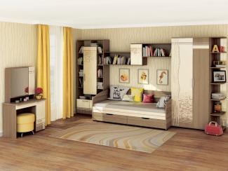 Спальня подростковая Бриз 3 - Мебельная фабрика «Витра»