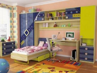 детская Джинс (комплектация 4) - Мебельная фабрика «Любимый дом (Алмаз)»