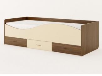 Детская кровать с ящиками и фасадом в виде волны