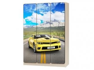 Шкаф трехстворчатый Камаро желтый - Мебельная фабрика «КАРоБАС»