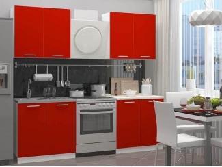 Кухонный гарнитур ЛДСП красный - Мебельная фабрика «Вся Мебель»