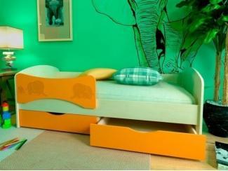 Детская кровать МДФ Слоники