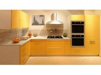 Угловая кухня в желтом цвете Акрил  - Мебельная фабрика «Вектра-мебель»