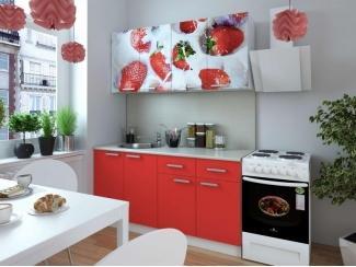 Кухня с фотопечатью Клубника