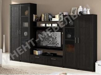 Черная гостиная Композиция 5  - Мебельная фабрика «Континент-мебель»