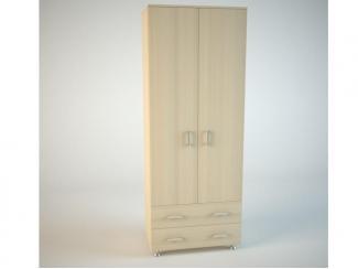 Светлый распашной шкаф Фламенко  - Мебельная фабрика «Маэстро»
