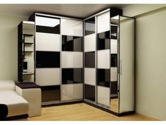 Шкаф-купе угловой  со стеклянными вставками - Мебельная фабрика «SEDAK-Мебель»